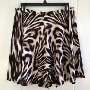 Boston Proper Blurred Leopard Skirt in Brown Multi